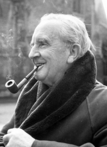 Tolkien, author of the famous Lord of the Rings series.