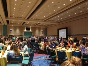 The luncheon where Elizabeth Boquet gave her keynote address to just about 1,100 people.